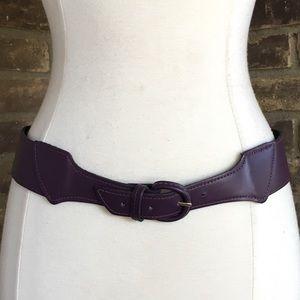 Oscar de la Renta Belt S Wide Purple